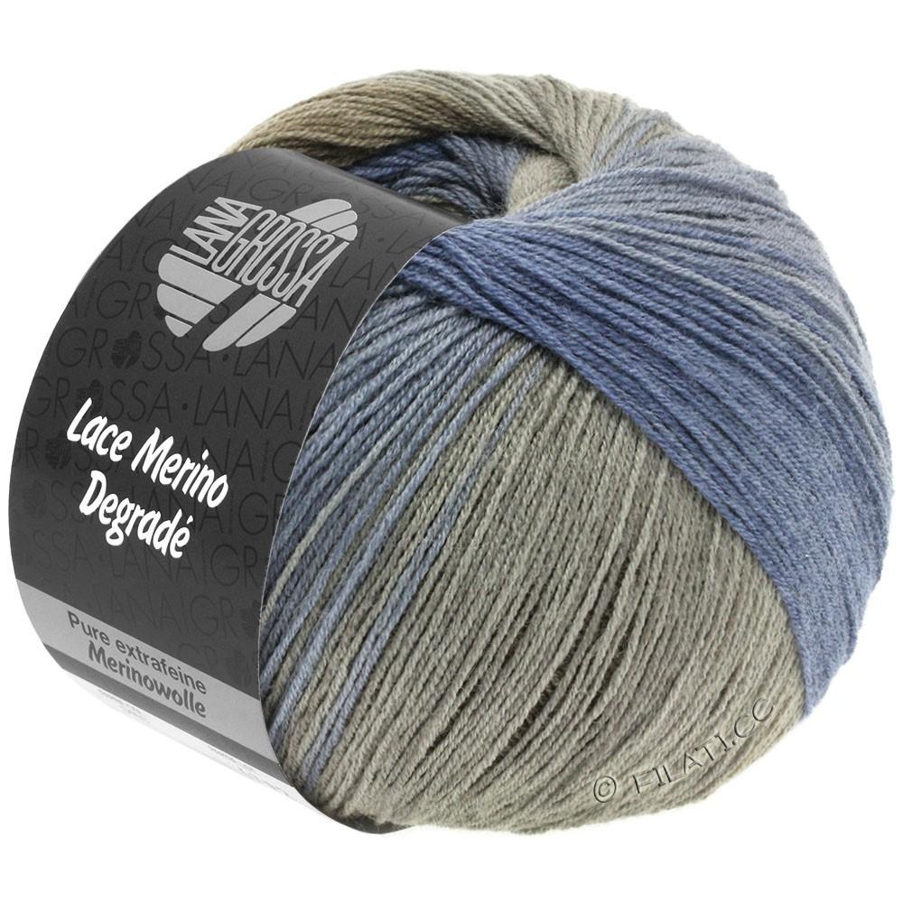 Lana Grossa LACE Merino Degradè | 406-jeans/dark blue/khaki