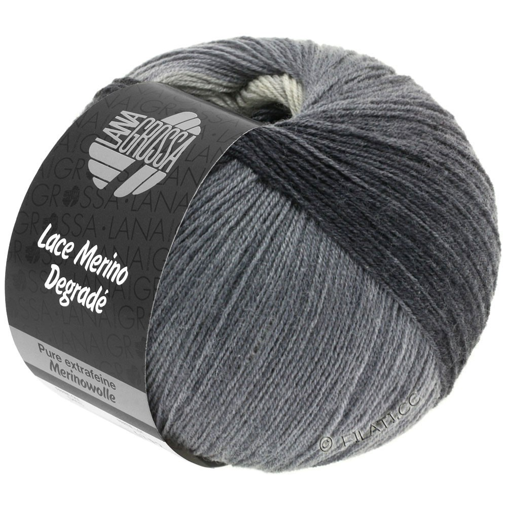 Lana Grossa LACE Merino Degradé | 408-light gray/medium gray/dark gray/anthracite