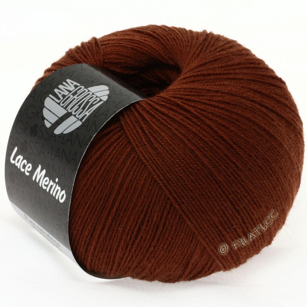 Lana Grossa LACE Merino  Uni | 42-red brown