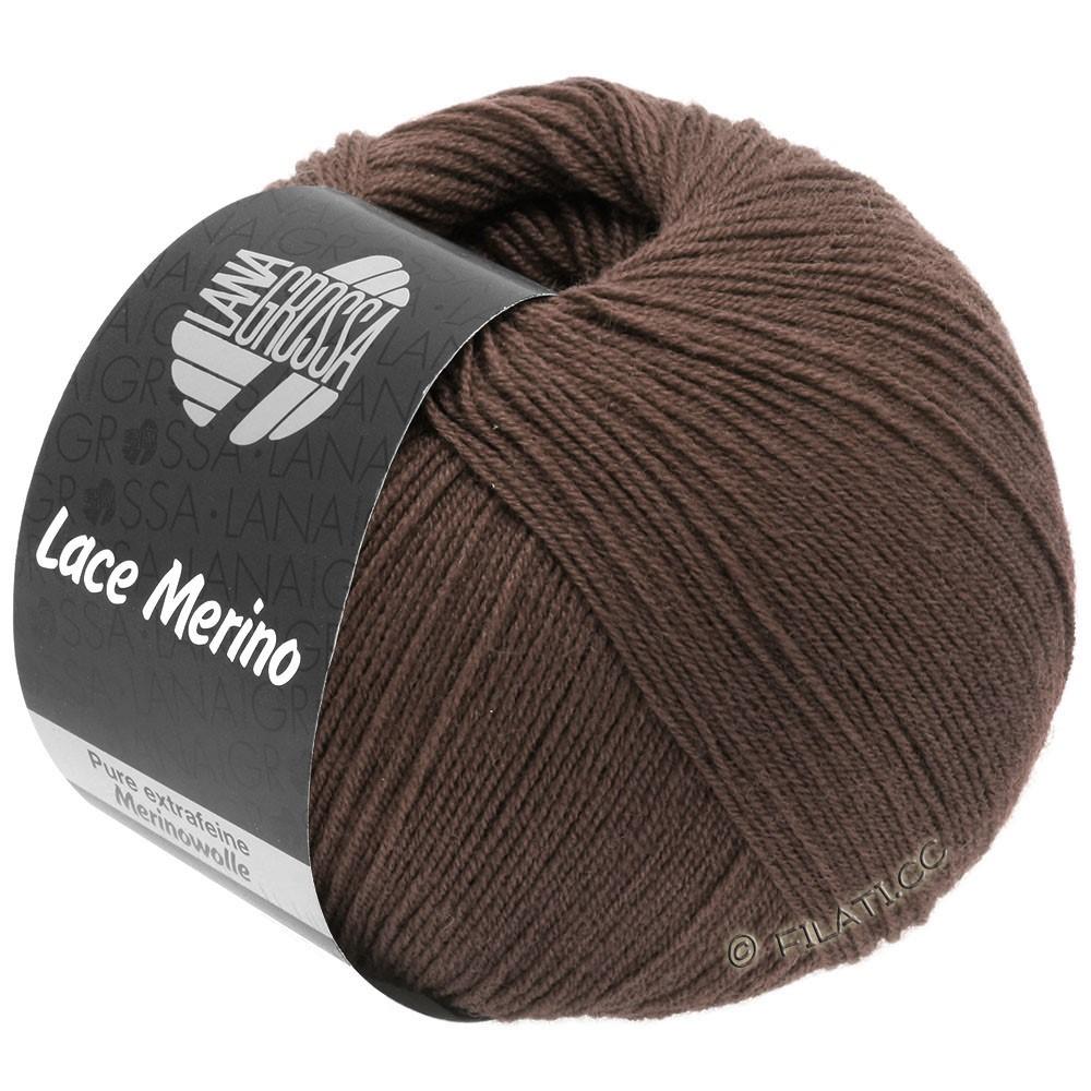 Lana Grossa LACE Merino  Uni | 63-chocolate brown