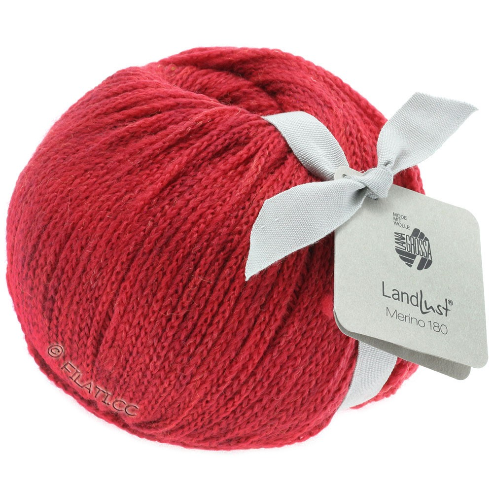 Lana Grossa LANDLUST MERINO 180 | 211-dark red