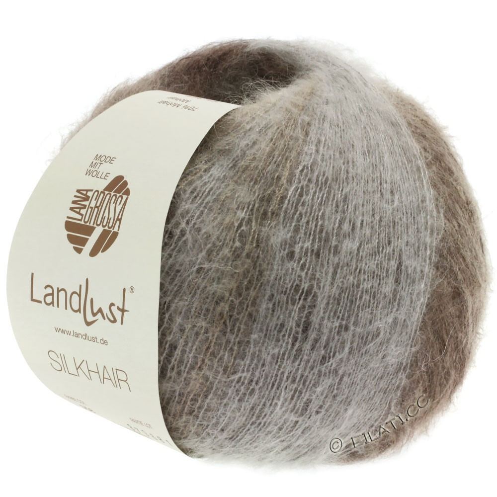 Lana Grossa LANDLUST SILKHAIR | 359-grège/brown gray/taupe/dark brown
