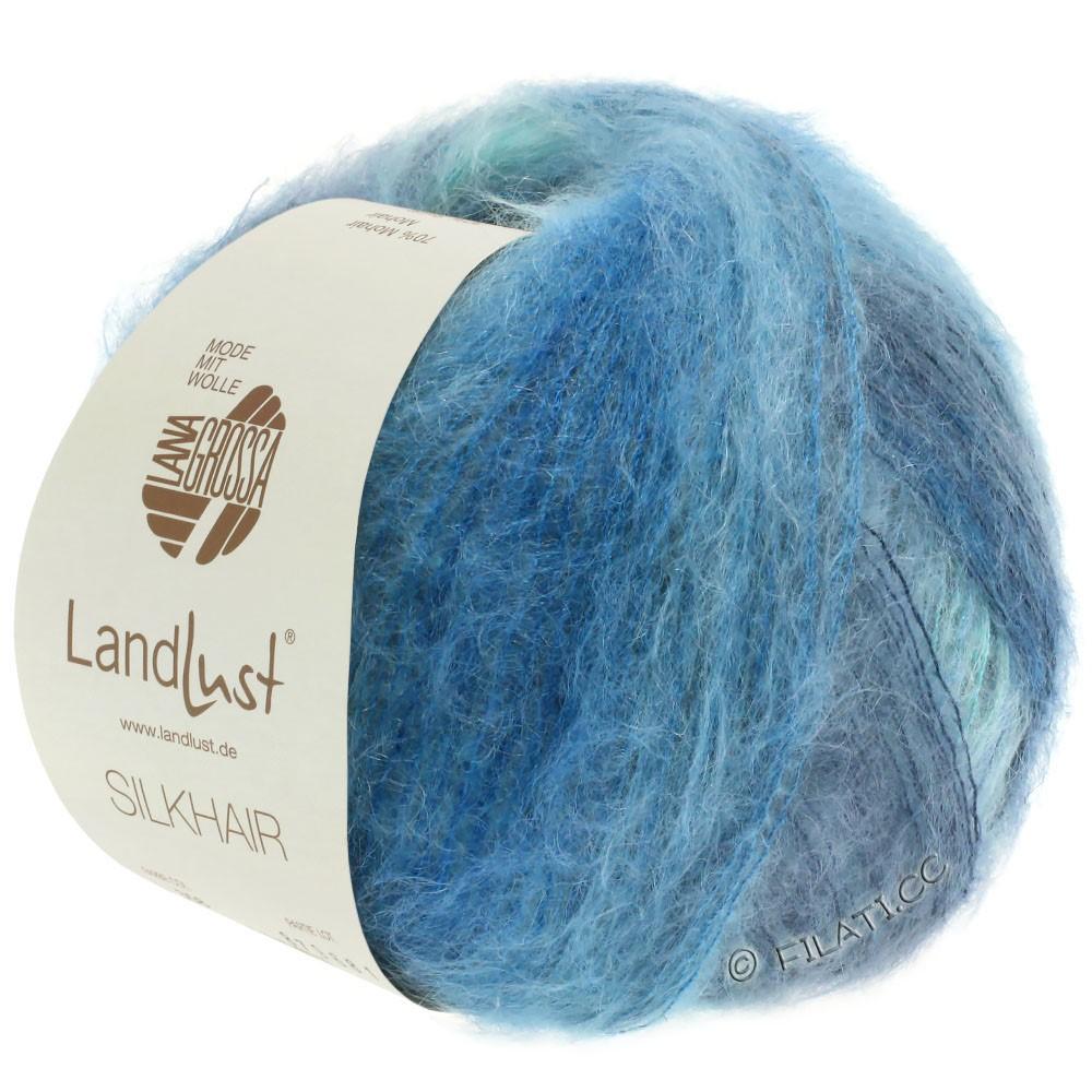 Lana Grossa LANDLUST SILKHAIR | 360-light blue/turquoise/smoke blue/petrol blue
