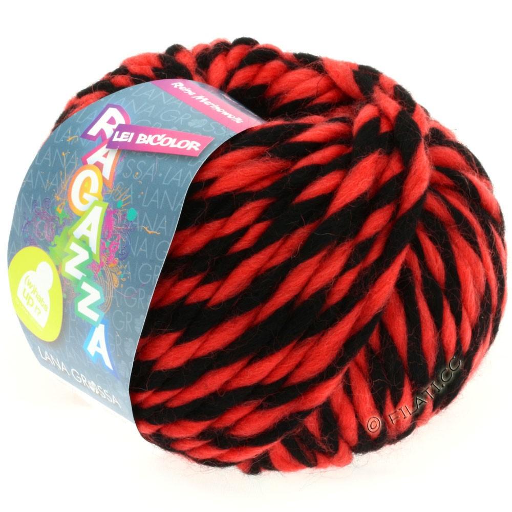 Lana Grossa LEI BICOLOR (Ragazza)   603-black/red