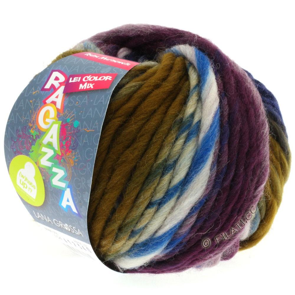 Lana Grossa LEI Mouliné/Color Mix/Spray (Ragazza) | 154-natural/gray/umbra/black blue