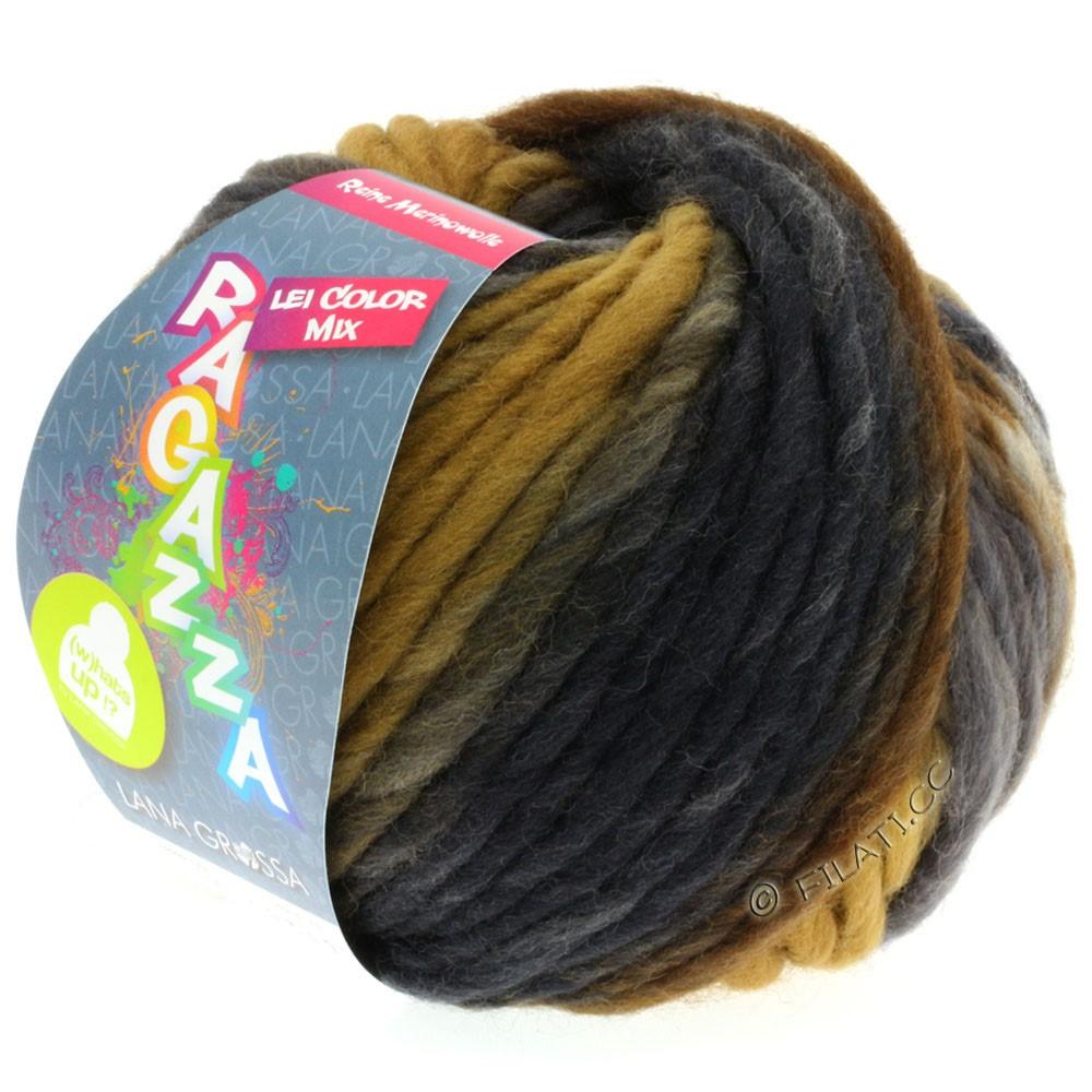 Lana Grossa LEI Mouliné/Color Mix/Spray (Ragazza) | 156-grège/ochre brown/gray brown/dark brown