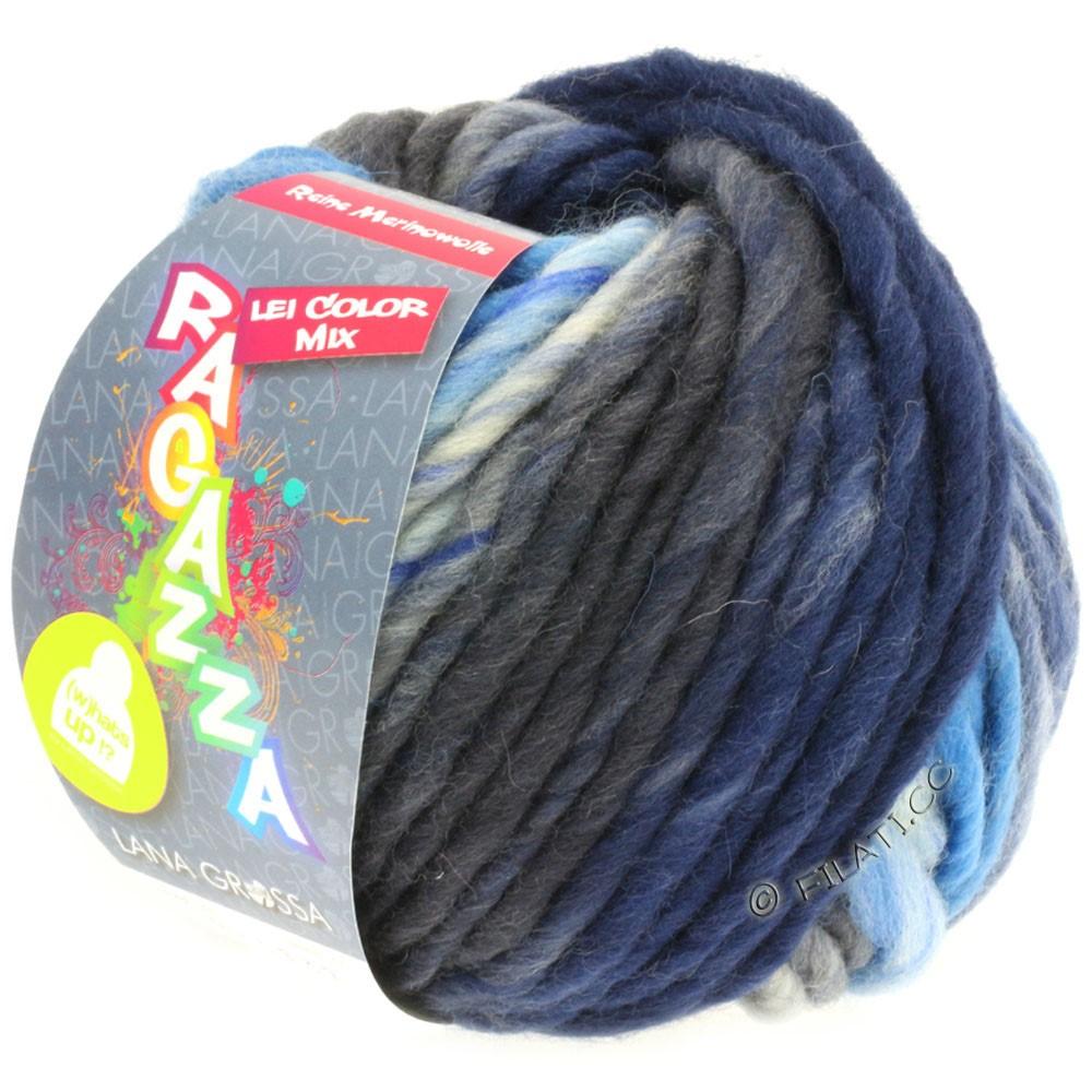 Lana Grossa LEI Mouliné/Color Mix/Spray (Ragazza) | 161-light blue/dark gray/navy/gray