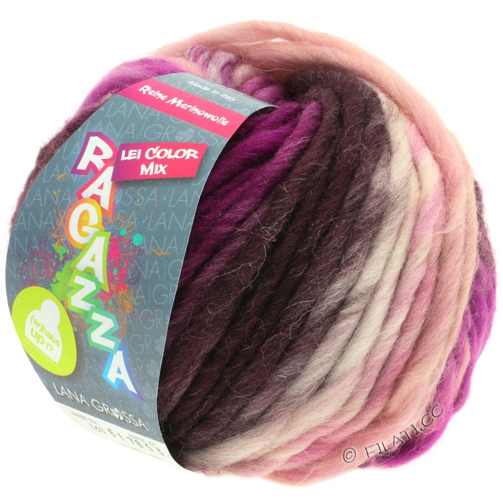Lana Grossa LEI Mouliné/Color Mix/Spray (Ragazza) | 163-rose/red violet/berry