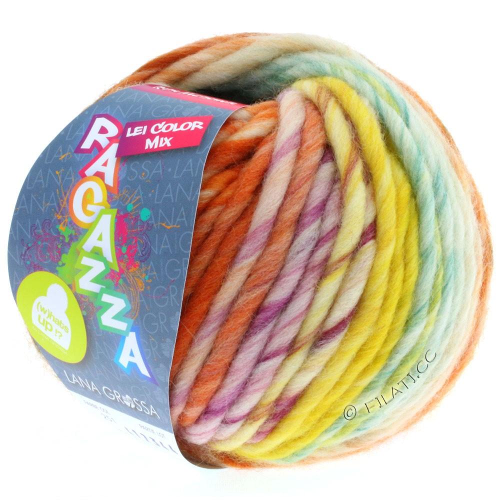 Lana Grossa LEI Mouliné/Color Mix/Spray (Ragazza) | 251-raw white/orange/yellow/petrol/violet