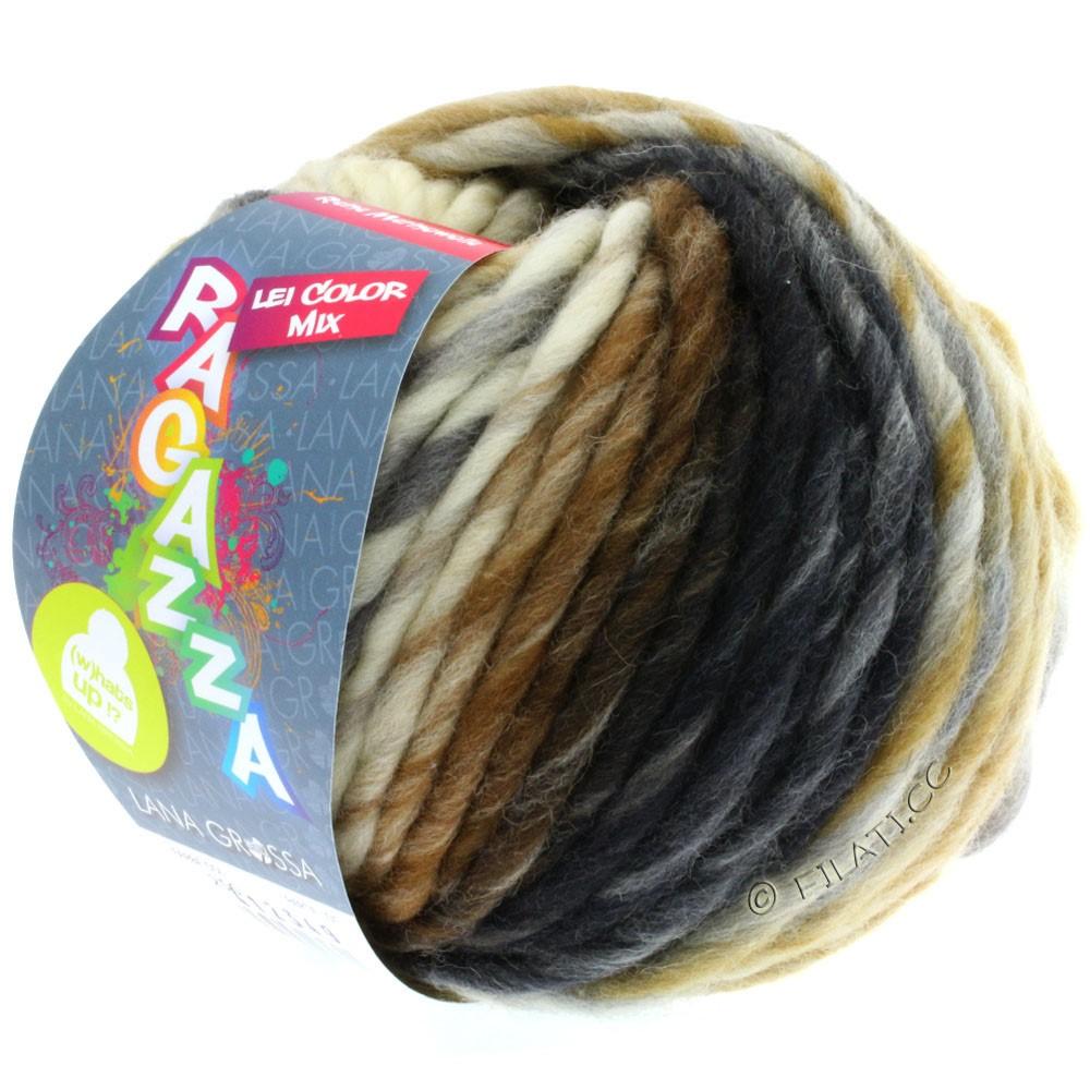 Lana Grossa LEI Mouliné/Color Mix/Spray (Ragazza) | 256-raw white/light gray/ocher/dark gray