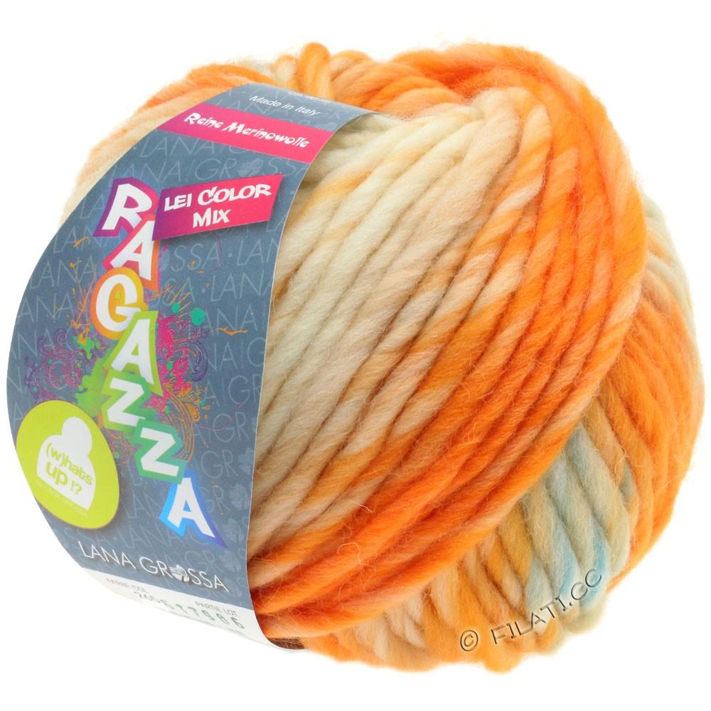 Lana Grossa LEI Mouliné/Color Mix/Spray (Ragazza) | 265-raw white/apricot/light blue