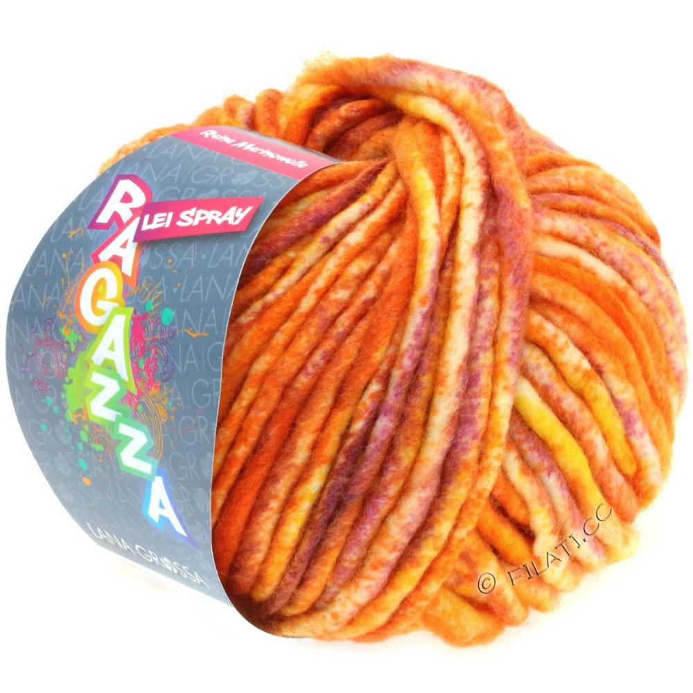 Lana Grossa LEI Mouliné/Color Mix/Spray (Ragazza) | 321-orange/berry/natural white
