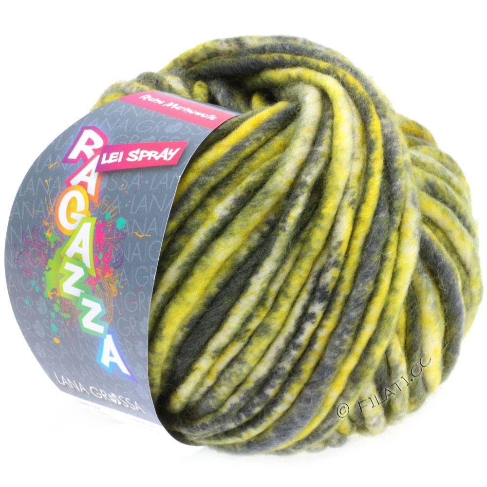Lana Grossa LEI Mouliné/Color Mix/Spray (Ragazza) | 327-yellow/dark gray/raw white