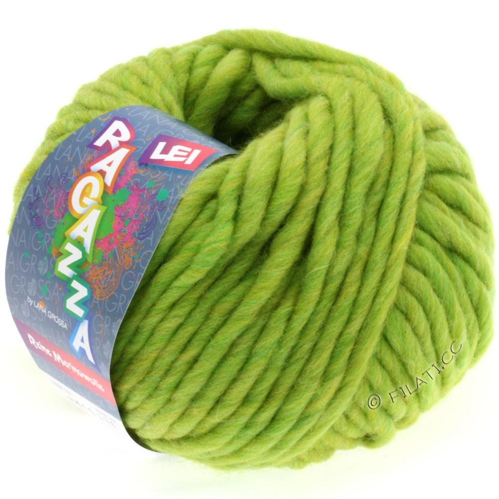 Lana Grossa LEI Uni/Neon (Ragazza)   004-green/yellow mottled