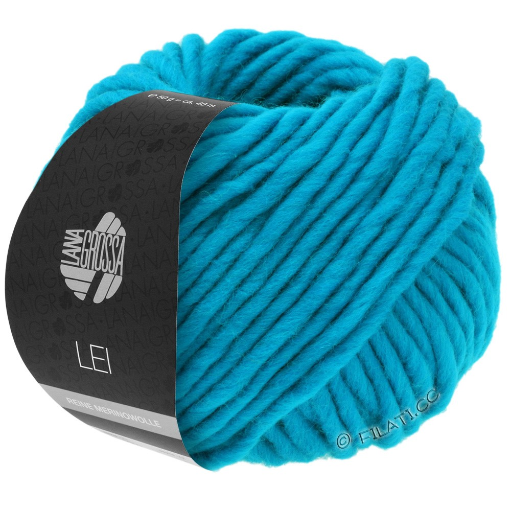 Lana Grossa LEI  Uni/Neon (Ragazza) | 028-turquoise blue