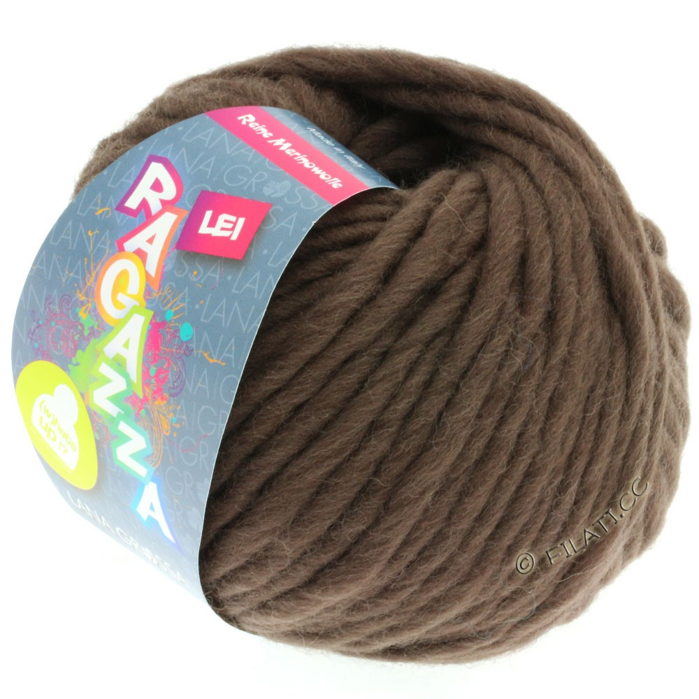 Lana Grossa LEI  Uni/Neon (Ragazza) | 064-gray brown