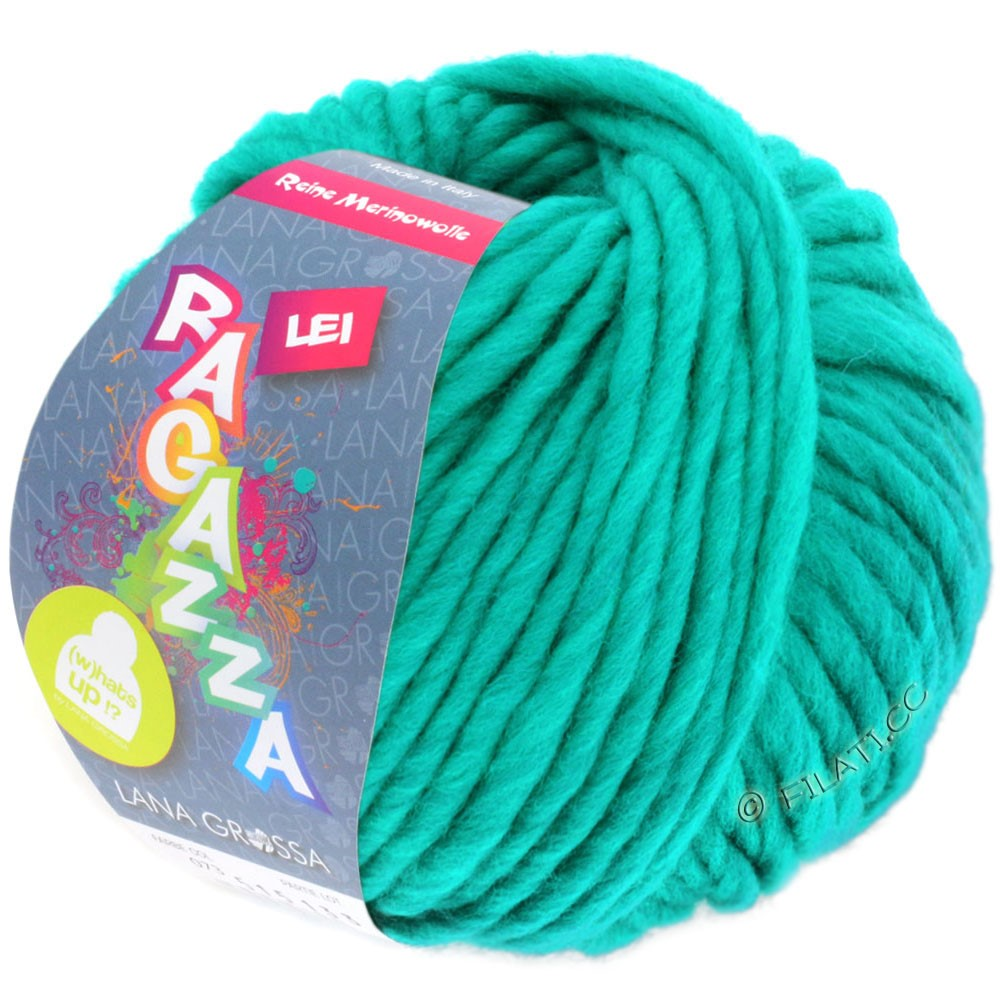Lana Grossa LEI  Uni/Neon (Ragazza) | 076-turquoise green