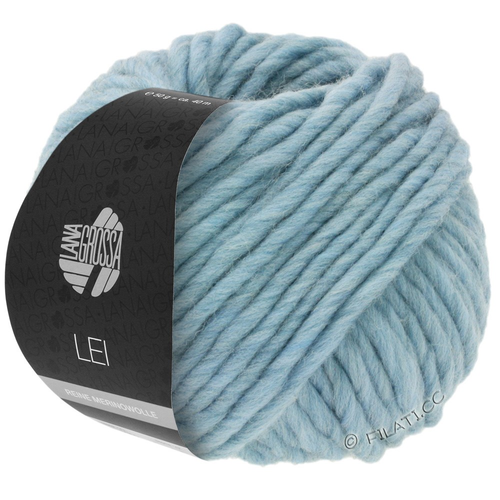 Lana Grossa LEI  Uni/Neon (Ragazza) | 084-light blue/gray