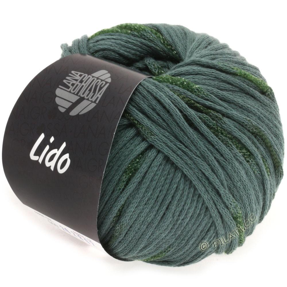 Lana Grossa LIDO | 09-gray green/dark green