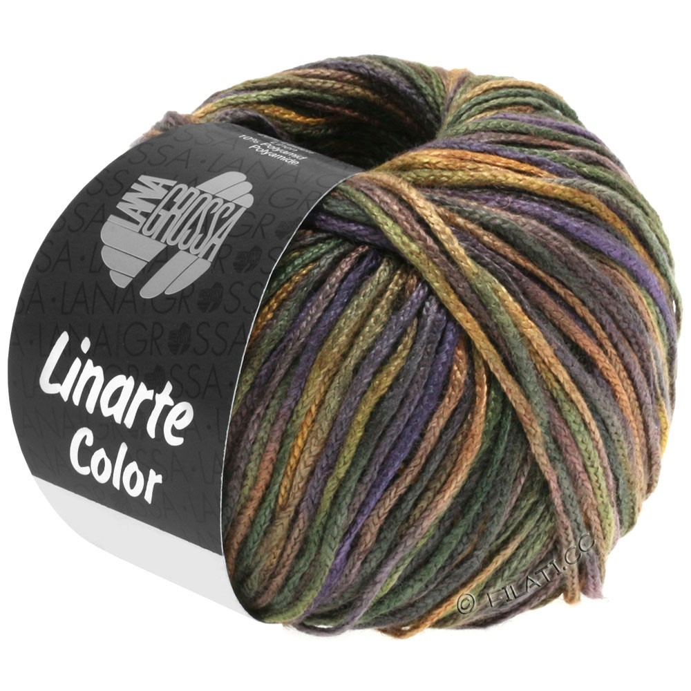 Lana Grossa LINARTE Color | 104-black green/brown/slate