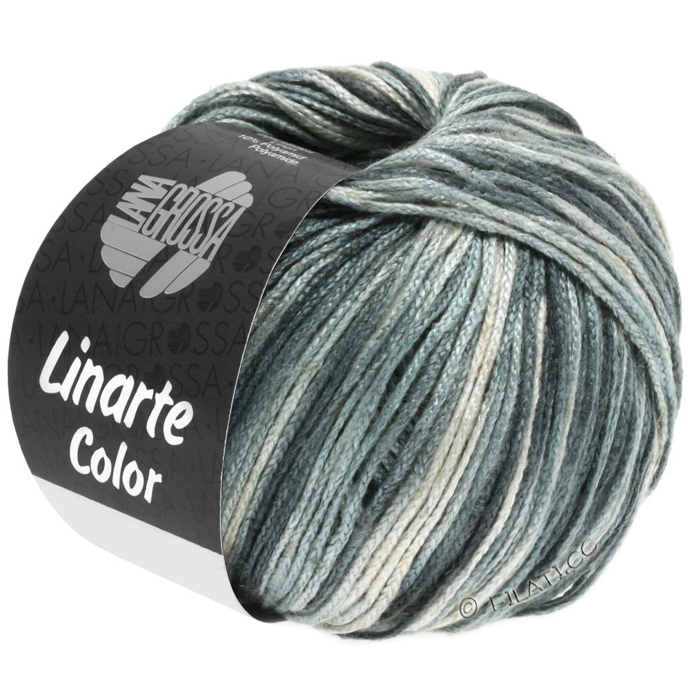 Lana Grossa LINARTE Color | 105-silver gray/platinum gray/granite gray