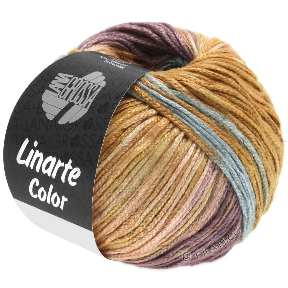 Lana Grossa LINARTE Color | 201-mint turquoise/beige red/antique violet/ochre brown