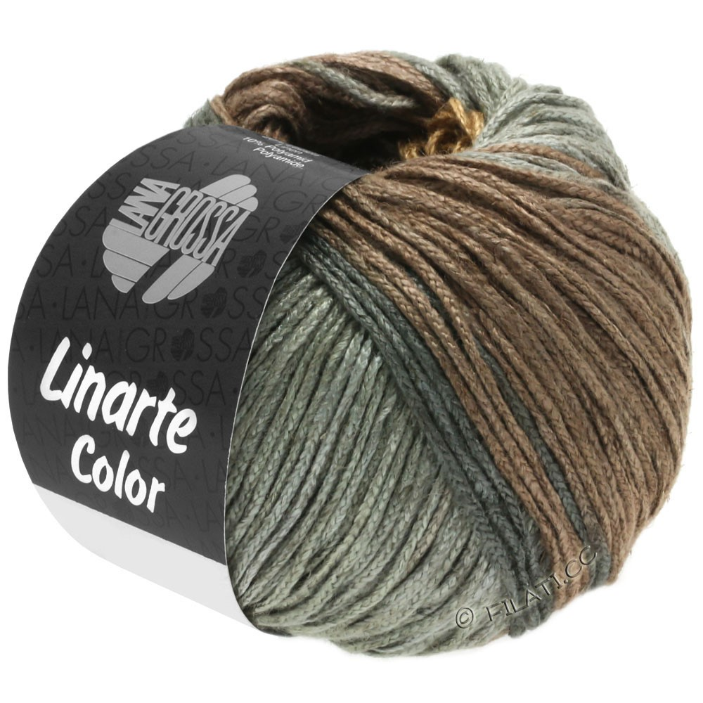 Lana Grossa LINARTE Color | 202-olive brown/mahogany bown/umbra gray/graphit gray