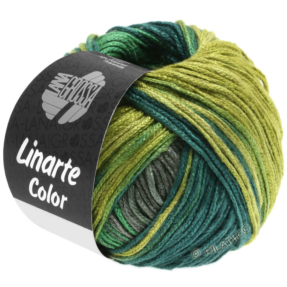 Lana Grossa LINARTE Color | 205-reed green/moss green/turquoise green/graphit gray