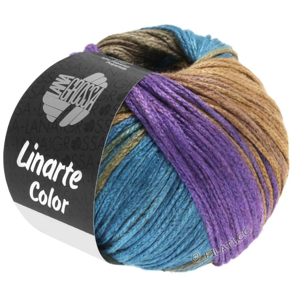 Lana Grossa LINARTE Color | 208-purple/petrol/khaki/sand yellow