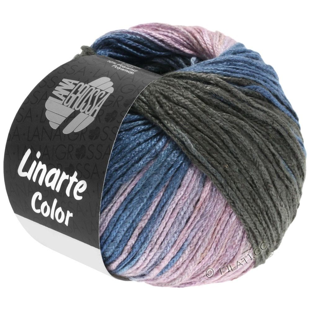 Lana Grossa LINARTE Color | 209-gray blue/graphite/rose/khaki