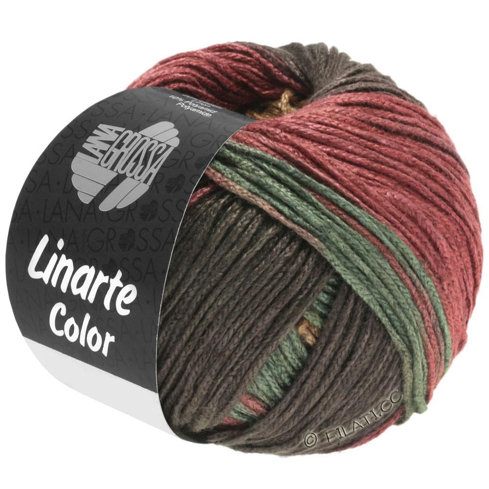 Lana Grossa LINARTE Color | 211-mocha/sand/red brown/reseda green