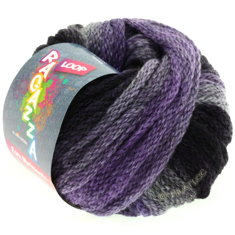 Lana Grossa LOOP (Ragazza) | 01-gray purple/eggplant
