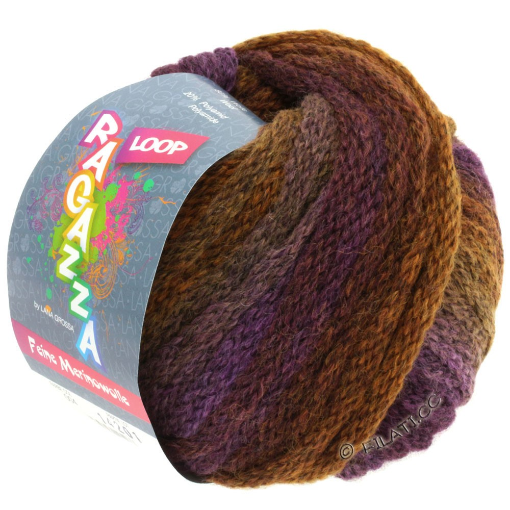 Lana Grossa LOOP (Ragazza) | 04-purple/golden brown