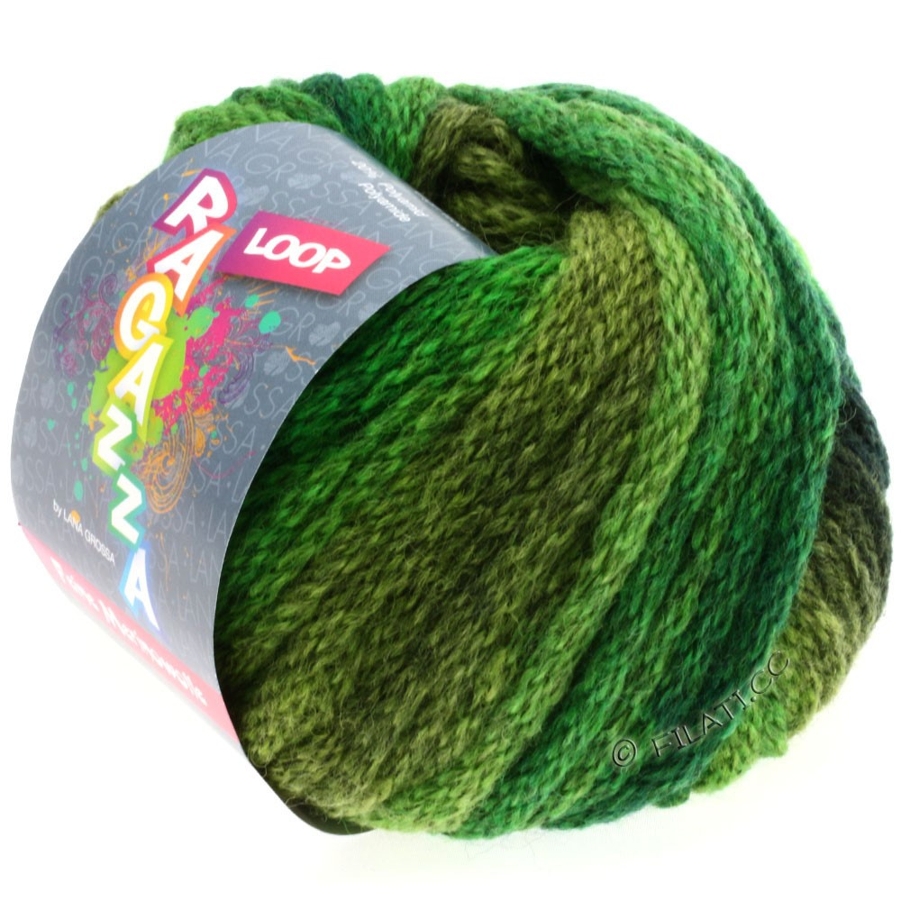 Lana Grossa LOOP (Ragazza) | 05-light green/bottle green