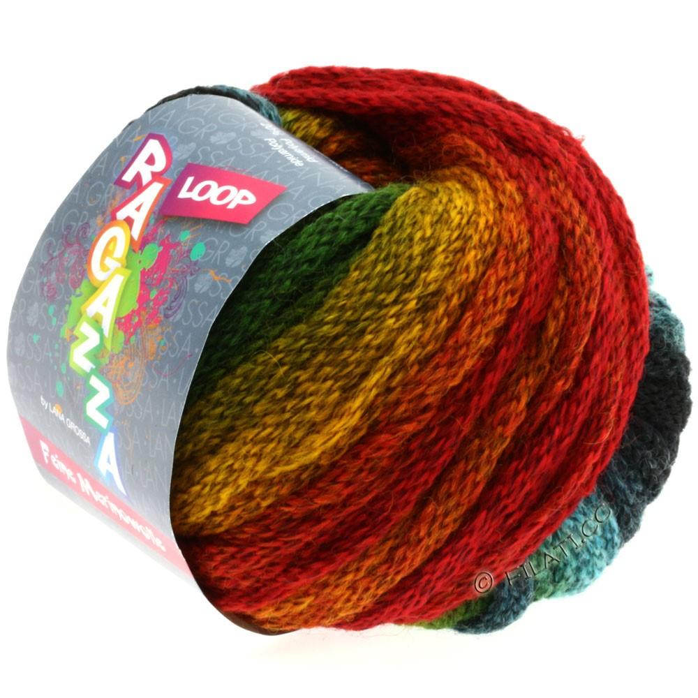 Lana Grossa LOOP (Ragazza) | 06-brick red/green
