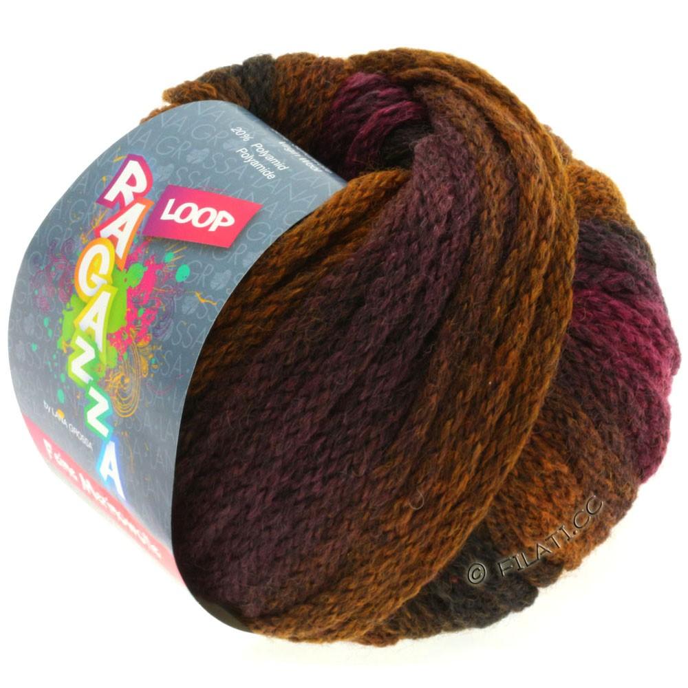 Lana Grossa LOOP (Ragazza) | 15-blackberry/golden brown/black brown