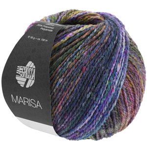Lana Grossa MARISA | 02-dark green/light green/purple/cyclamen/night blue
