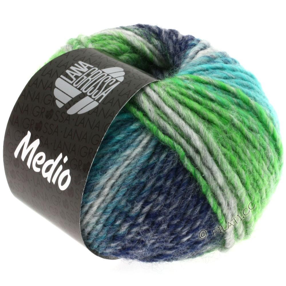 Lana Grossa MEDIO | 09-turquoise/gray/navy/light green