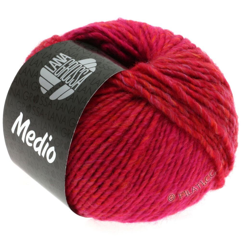 Lana Grossa MEDIO | 11-raspberry/cyclamen/cherry red/orange/khaki/bordeaux