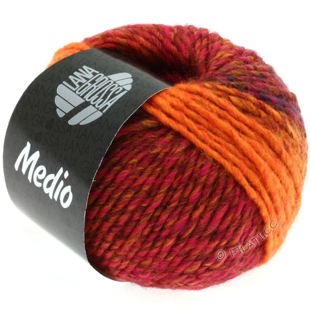 Lana Grossa MEDIO | 13-red/blue/pink/orange/cinnamon brown