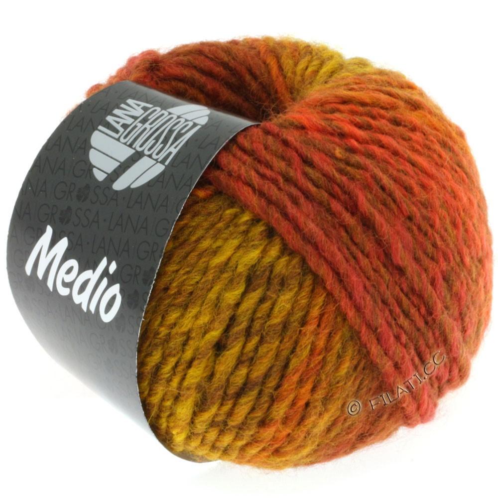 Lana Grossa MEDIO | 14-corn yellow/fawn brown/mocha/cinnamon brown/rust