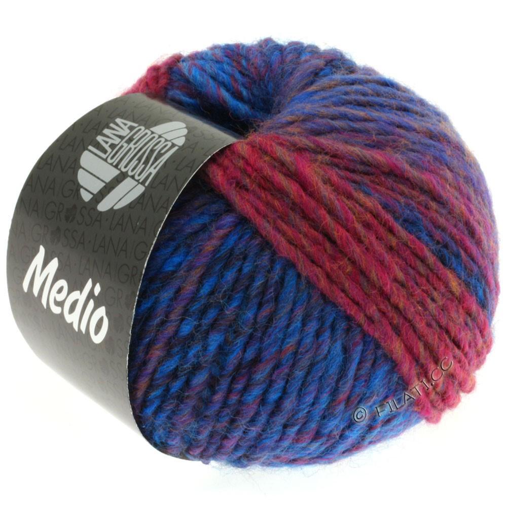 Lana Grossa MEDIO | 15-navy/blue/pink/brown/gray/eggplant