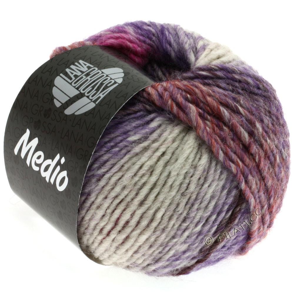Lana Grossa MEDIO | 17-eggplant/blackberry/purple/pink/tulipwood/gray/orange/natural