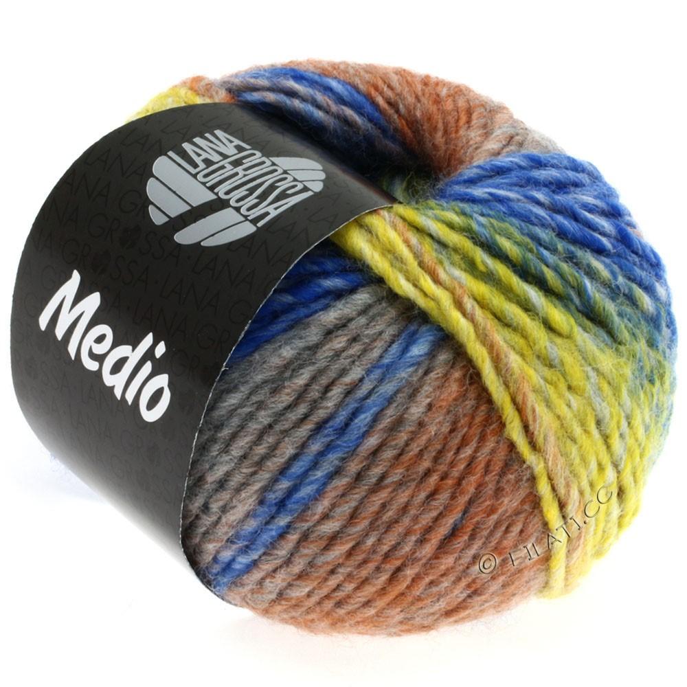 Lana Grossa MEDIO | 18-mustard/light gray/medium gray/brown/blue/natural
