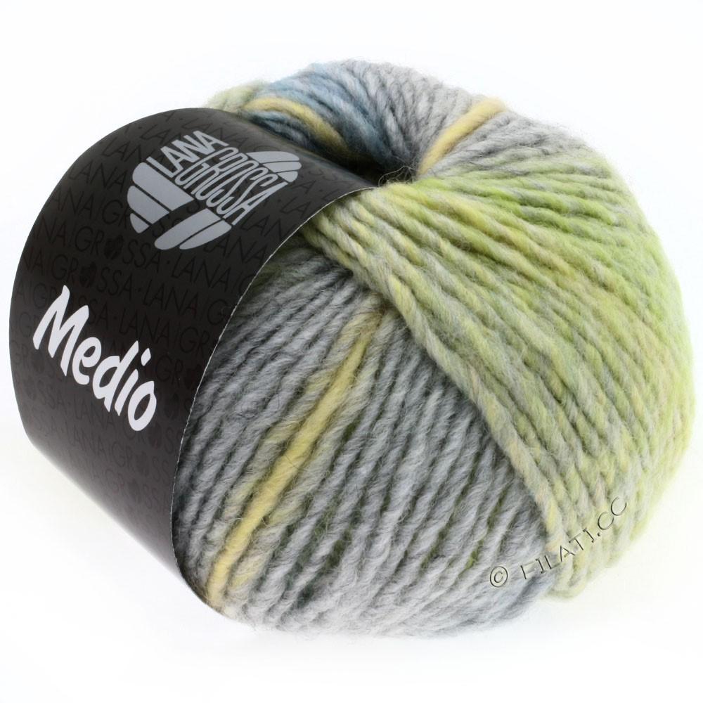 Lana Grossa MEDIO | 19-vanilla/gray brown/grège/light blue/gray/linden green