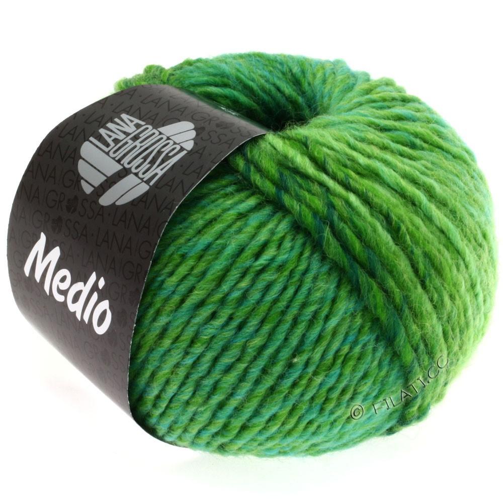 Lana Grossa MEDIO | 20-light green/apple green/bottle green/turquoise/yellow