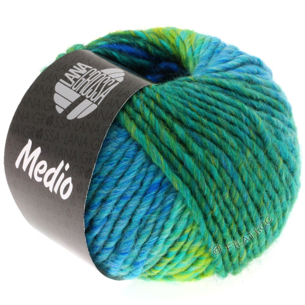 Lana Grossa MEDIO | 22-night blue/royal/turquoise/petrol/yellow