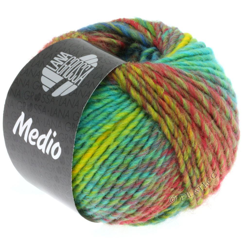 Lana Grossa MEDIO | 23-maize yellow/turquoise/red/pistachio/orange/petrol