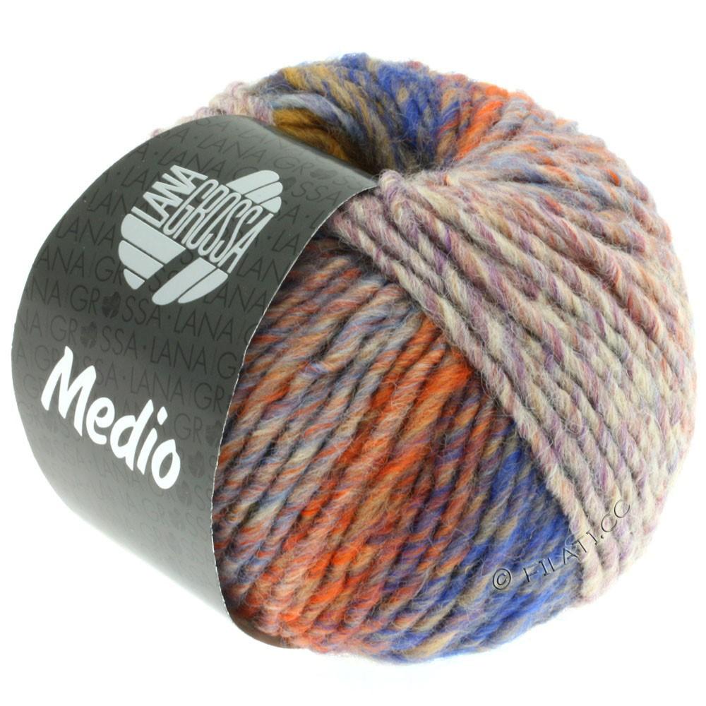 Lana Grossa MEDIO | 26-mustard/blackberry/khaki/orange/green/lilac