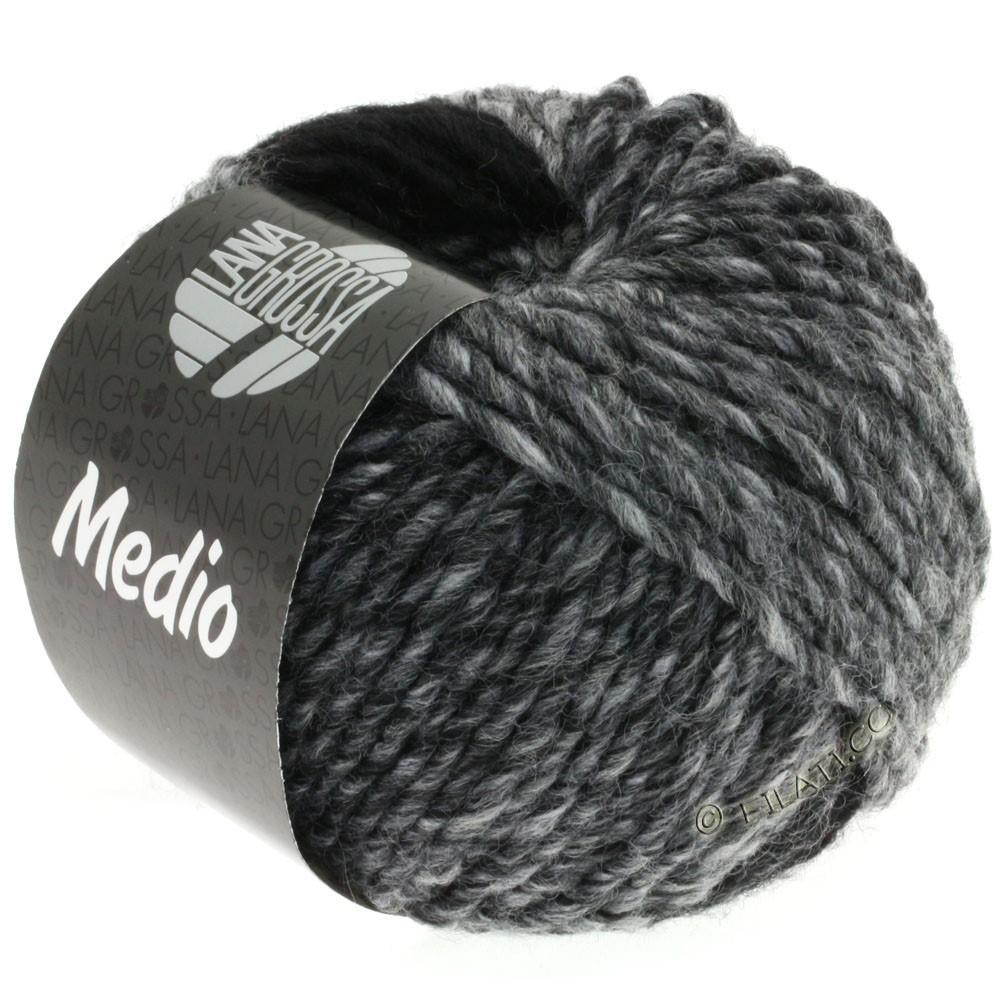 Lana Grossa MEDIO | 29-gray/graphite/white/anthracite/light gray